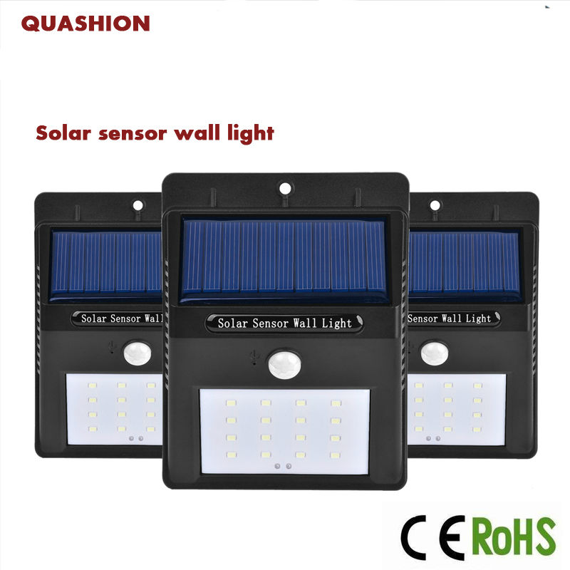 Lights & Lighting 20 Led Solar Light Outdoor Waterproof Garden Pir Motion Sensor Solar Power Led Wall Light Emergency Solar Lamp Pathway Decor Led Lamps