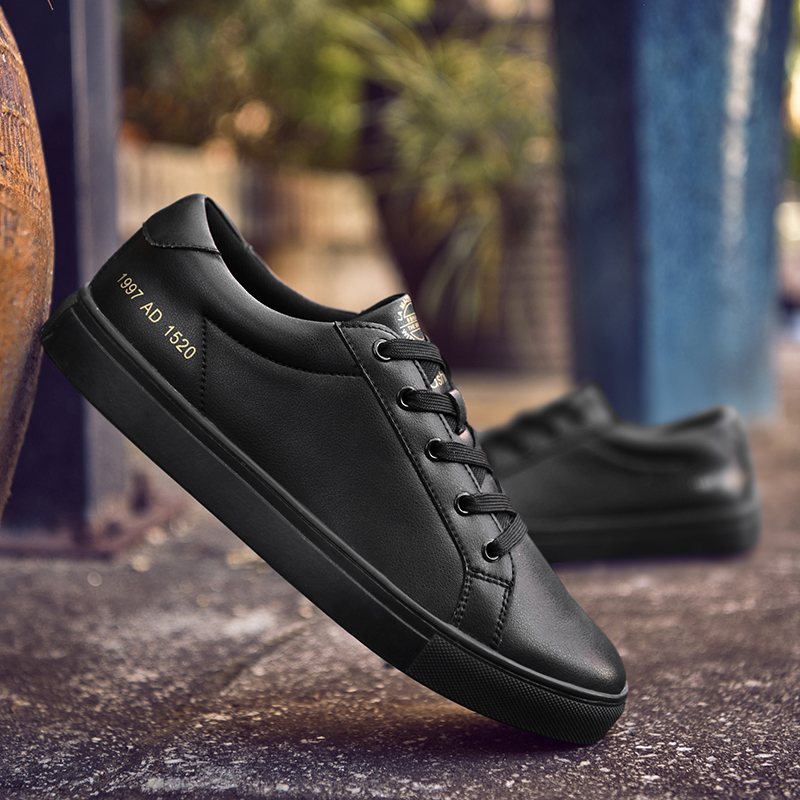 SUROM Brand Designer Men s Casual Shoes Summer Breathable Fashion White Sneakers Men Leather Shoes loafers