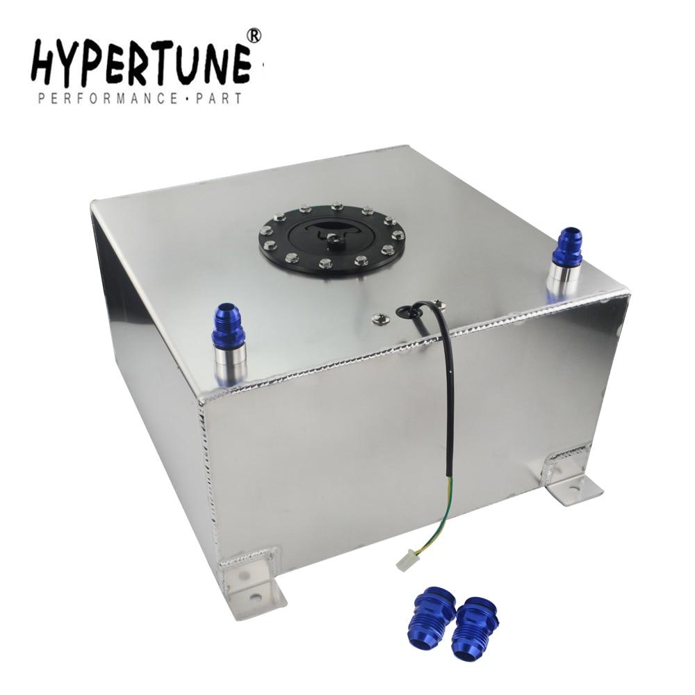 Hypertune-40l tanque de impulso de combustível de alumínio com célula de combustível 40l do tampão com espuma do sensor dentro HT-TK40