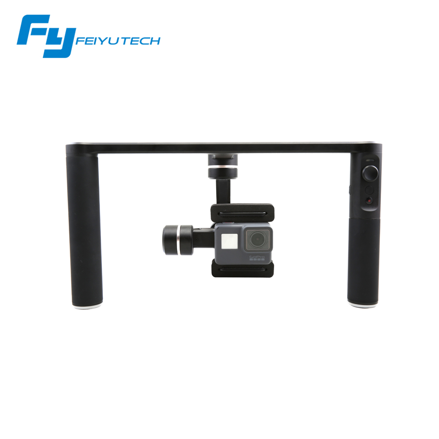 Feiyu SPG Plus 360 degree Handheld Gimbal Stabilizer Bluetooth for Gopro Hero 5 4 3 Action cameras and Smartphones feiyu tech g360 panoramic camera stabilizer handheld gimbal 360 for smartphones gopro action cameras app control f20474
