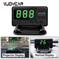 C60 VJOYCAR Auto Car GPS HUD Head Up Display Alarme de Excesso de velocidade Brisa Projeto Velocímetro do Veículo Sistema de Alarme FRETE grátis