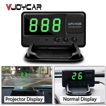 HUD Head Up Display GPS Car Speed Projector Windshield Speedometer Alarm Universal Better Than A100 A100s OBD Hud OBD2 Gauge image