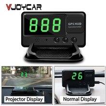 VJOYCAR C60 Auto Car HUD GPS Head Up Display Overspeed Alarm Windshield Project Alarm System Vehicle Speedometer FREE shipping