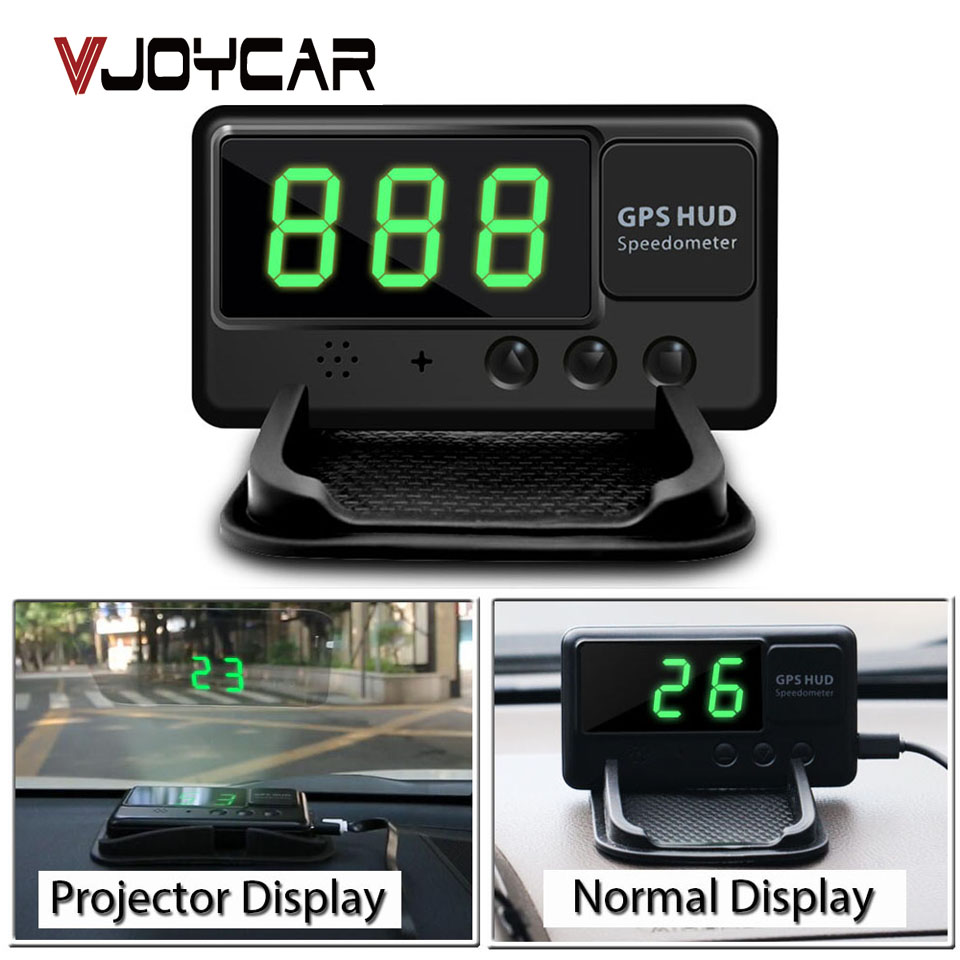 VJOYCAR C60 HUD Head Up Display GPS Auto Speed ​​Projector Voorruit Snelheidsmeter Alarm Beter Dan A100 A100s OBD Hud OBD2 Gauge