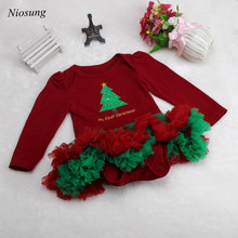 Niosung Newborn Christmas Infant Baby Girl Romper Tutu Dress Sets 4Pcs Outfits Clothes Jumpsuit Bebe Birthday Christmas Costumes