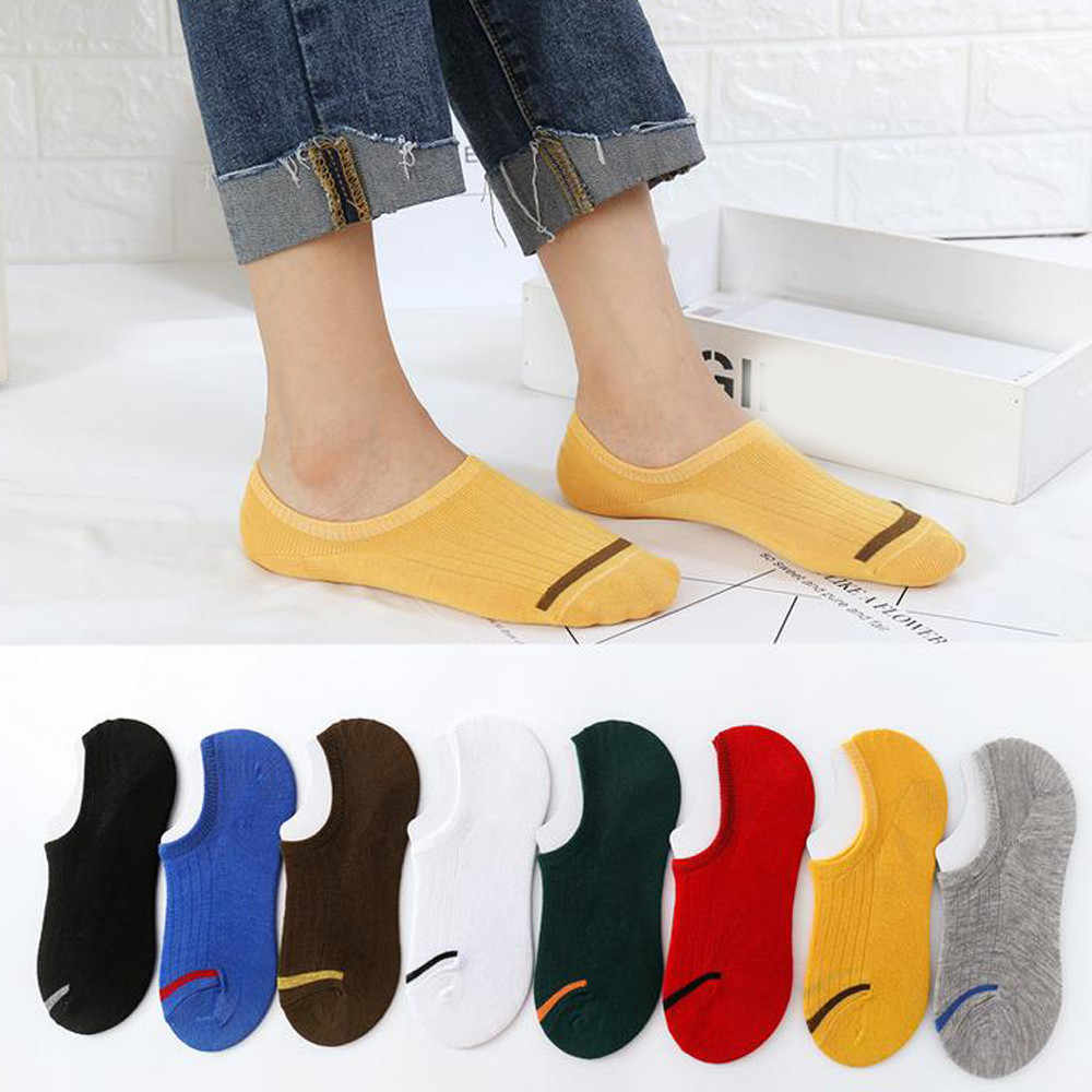 New Style 1Pair Unisex Comfortable Cotton Sock Slippers Short Ankle Socks Popular High Quality Breathable Sock Meias Chaussette