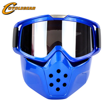 High-End Mask Motocross Goggles Vintage Helmet Fitting Retro Motorcycle Helmet Shield Gafas CG04