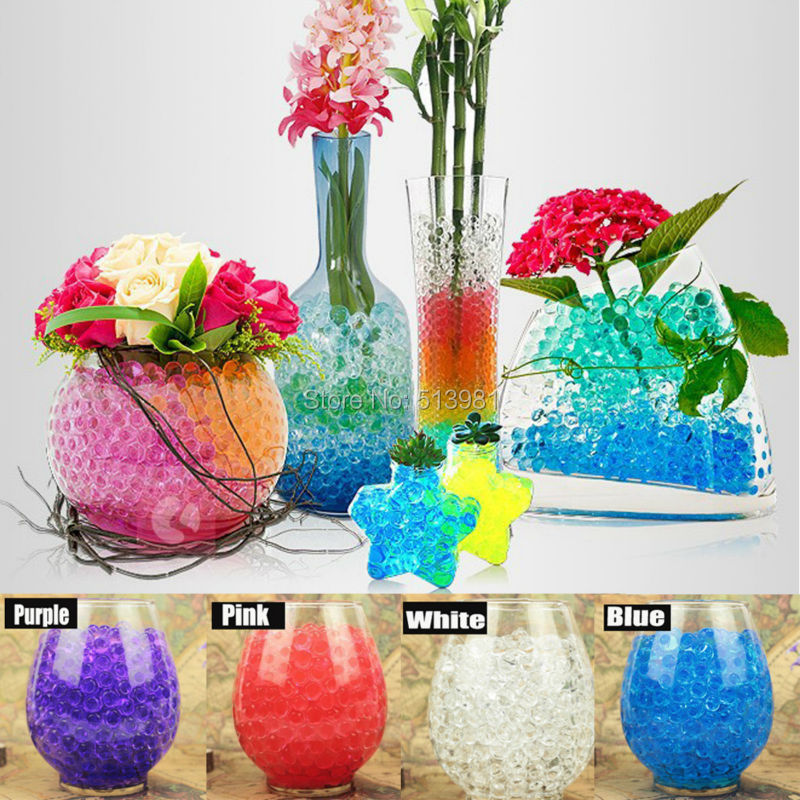 50gbag Mixed Colourful Magic Pearl Vase Filler Shaped Crystal Soil