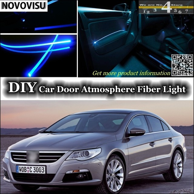 NOVOVISU For Volkswagen VW Passat CC Interior Ambient Light Tuning  Atmosphere Fiber Optic Light Inside Door