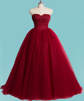 Custom Made YWD116 Off The Shoulder Lace And Tulle Ball Gown Burgundy Colored Princess Wedding Dress