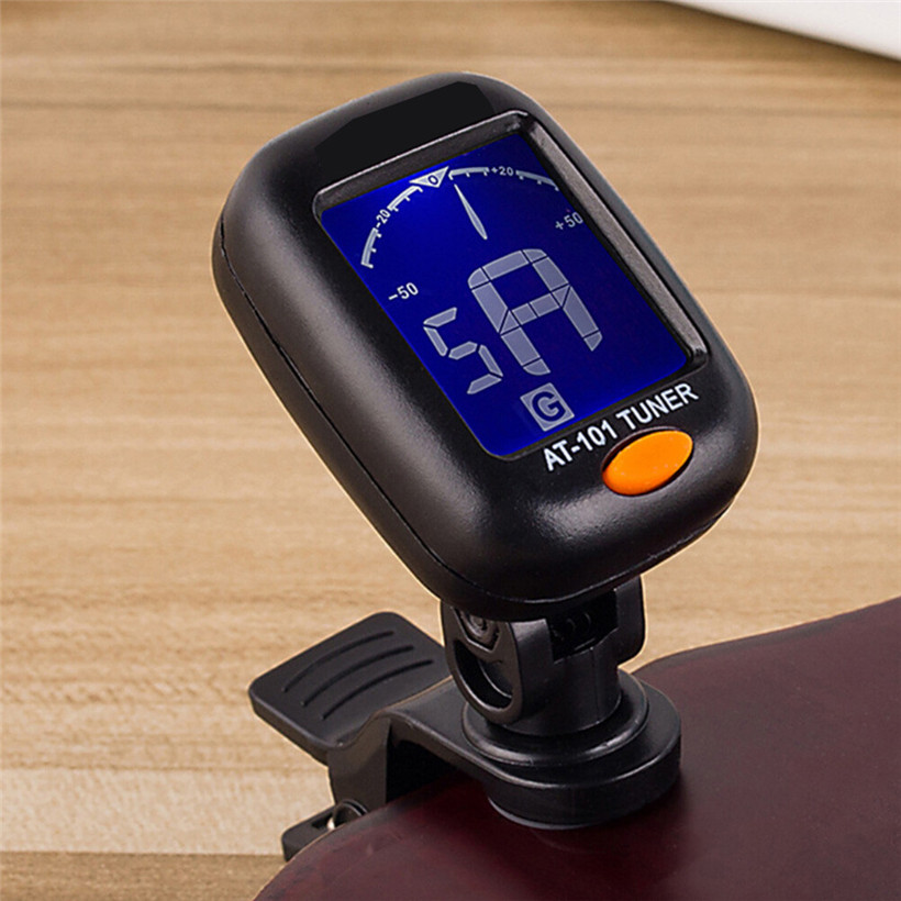 Digital Chromatic LCD Clip-On Electric Tuner for Bass, Guitar, Ukulele, Violin 80418 drop shipping