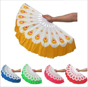 10pcs/lot Free Shipping New Arrival Peacock fans Chinese dance fan 5 colors available For Wedding Party favor gift