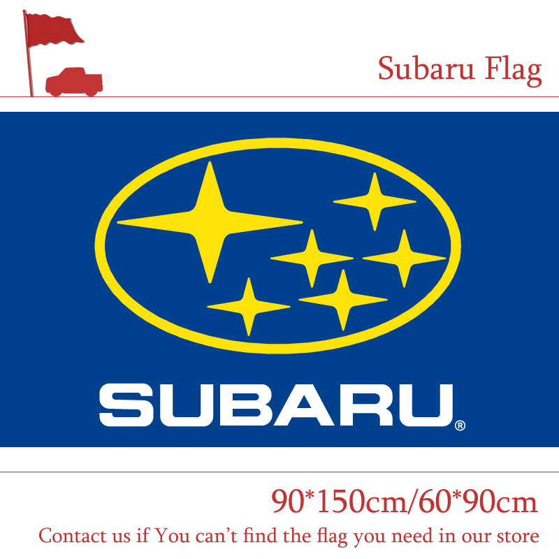Free shipping 90x150CM 60 90cm Subaru Car Logo Off road Race Flag Banner Decoration For Racing Party in Flags Banners Accessories from Home Garden