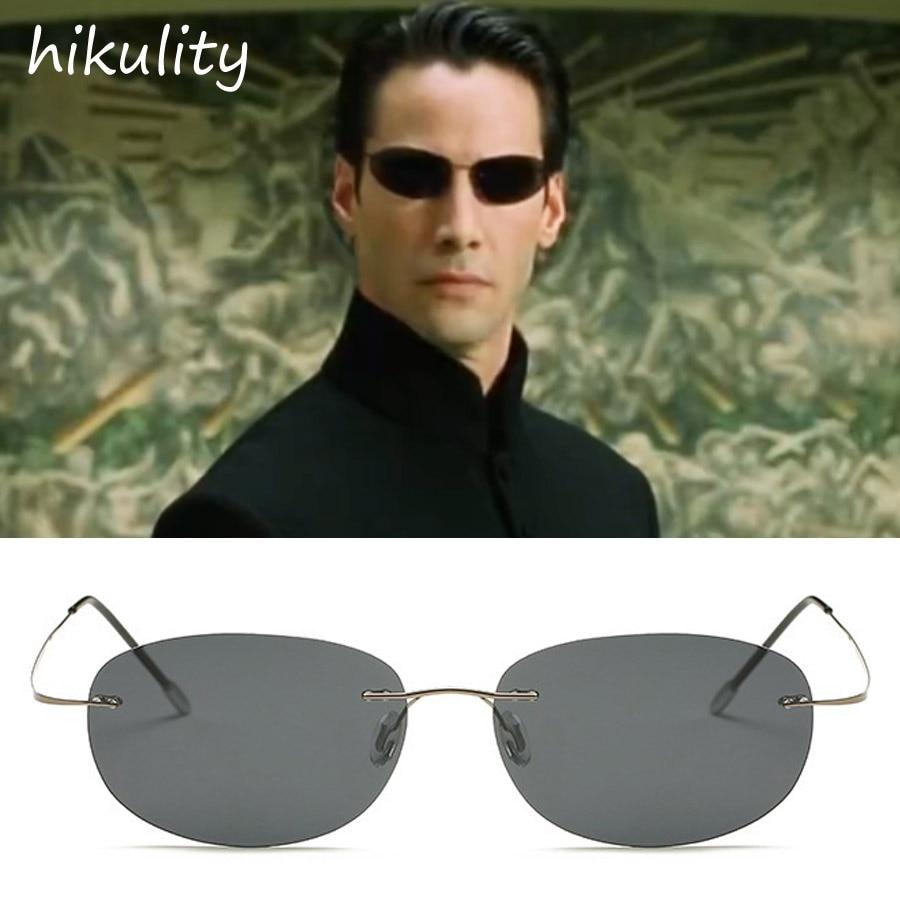 86161 Ultralight Titanium Matrix Neo Sunglasses Men Brand Keanu Reeves Vintage POLARIZED Fishing Eyewear Driving Glasses Male door wireless with monitor