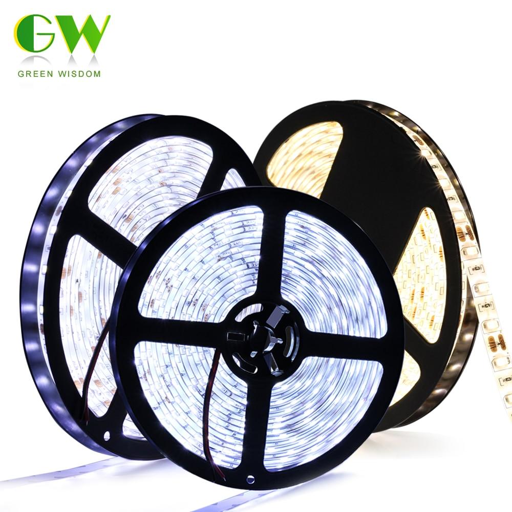 LED Strip 5730 DC12V Waterproof Flexible LED Diode Tape Warm White Cold White 60LEDs/M Brighter Than 5050 12V LED Ribbon 5m/lot