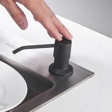 Кухонные дозаторы для мыла на бортике объемом 400 мл, насос из нержавеющей стали с хромированной отделкой для кухни, встроенный прилавок, верхний дозатор 2309