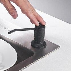 Badrandcombinaties Keuken 400 Ml Zeep Dispensers Rvs Pomp Verchroomd Voor Keuken Ingebouwde Teller Top Dispenser 2309