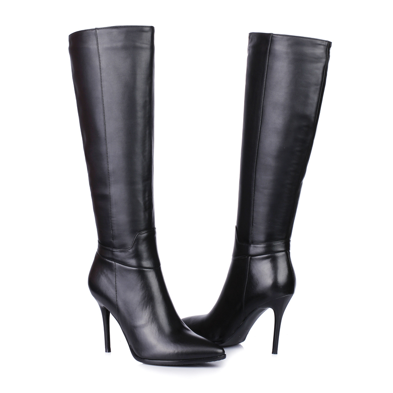 666 29 2014 plus size Ladies Fashion winter women botas mujer shoes genuine leather bottes femmes
