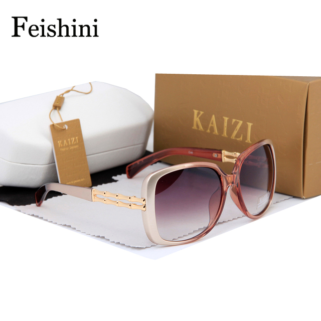 FEISHINI Market Monopoly CR39 Lens Glasses Women Brand Designer FDA Safety Standards UV400 Shop Counters Quality Sunglasses