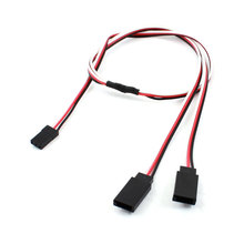 UXCELL 50Cm Length Rc Helicopter Part 3 Pin M/F Y Splitter Servo Extension Cable