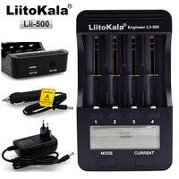 Liitokala lii-500 smart lcd carregador 3.7 v 18650 10440 14500 16340 17335 17500 26650 bateria de lítio  1.2 v aa/aaa nimh bateria