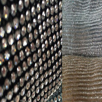 45x120cm Glitter 4MM Clear Rhienstone Metal Mesh Fabric Metallic Cloth Metal Sequin Sequined Fabric Curtain DIY