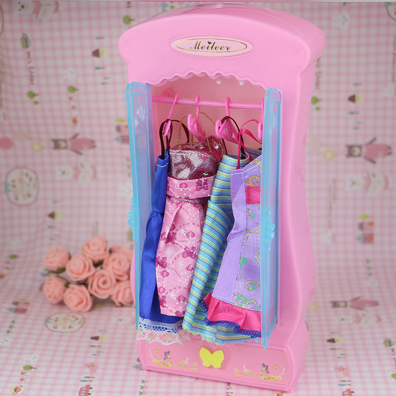 doll accessories furnitures miniature cabinet pink barbie furniture wardrobe princess bedroom. Black Bedroom Furniture Sets. Home Design Ideas