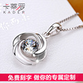 Korea 925 Silver OL AAA+CZ Diamond Chain Necklaces & Pendants Fashion white Crystal Party/Wedding simple Jewelry For Women