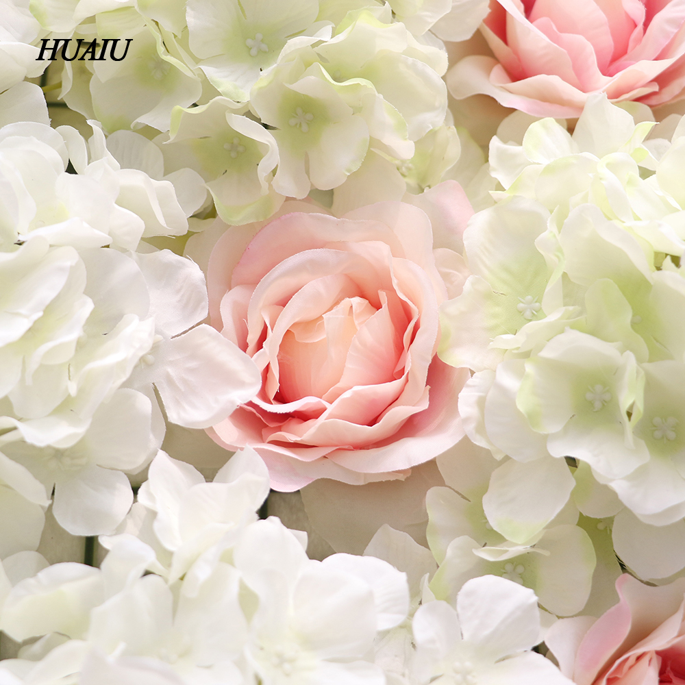 Artificial Flower Wall 62 42cm Rose Hydrangea Flower Background