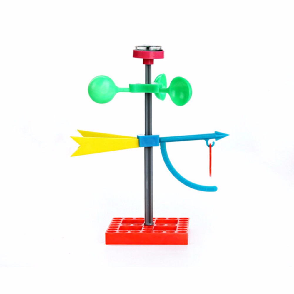 Hot Sale Mini Wind Vane Toys For Children Early Learning Educational Science Wind Power Model Gifts