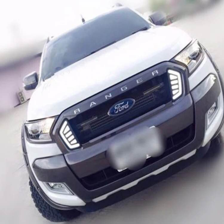 eOsuns LED daytime running light DRL for ford ranger 2015-16, wireless switch, yellow turn signal eosuns led daytime running light drl for ford focus 4 2015 yellow turn signal blue night light wireless switch