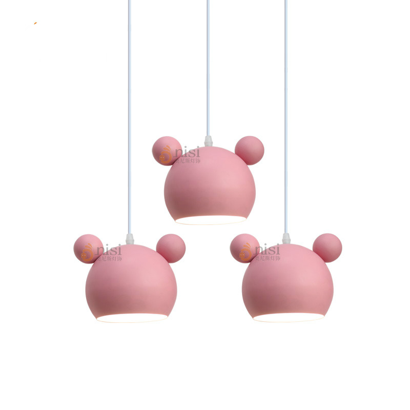Modern Lovely Creative Pink Aluminum Mouse Led E27 Pendant Light For Princess/ Girl Room Children's Room Bedroom Lamp 1987 2017 new elecom 2 4g mini mouse vwith charging for home office general balls the mouse girl