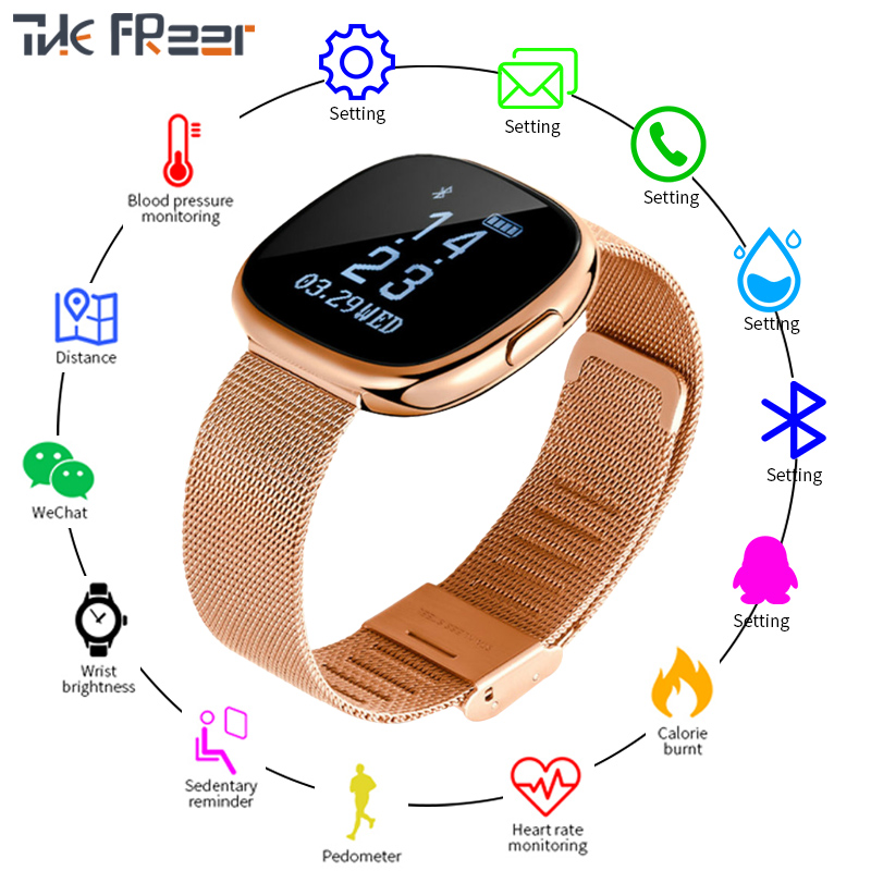 P2 Smart Watch Men Women TopCraft Production Heart Rate Monitor Pedometer Smartw