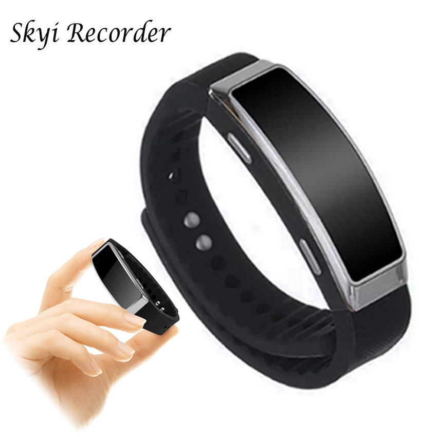 Bracelet Voice Activated Recording Wearable Wristband 8GB Digital Voice Recorder Mini Audio Recorder Sound Dictaphone MP3 Player
