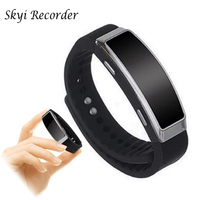 New Bracelet Voice Recorder Wearable Wristband 8GB Digital Sport Hidden Bracelet Voice Recorder Watch Dictaphone Audio