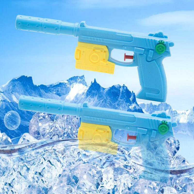 Summer Children Outdoor Play Pistol Beach Game Toy Blue Plastic Small Water Gun Toys Gifts