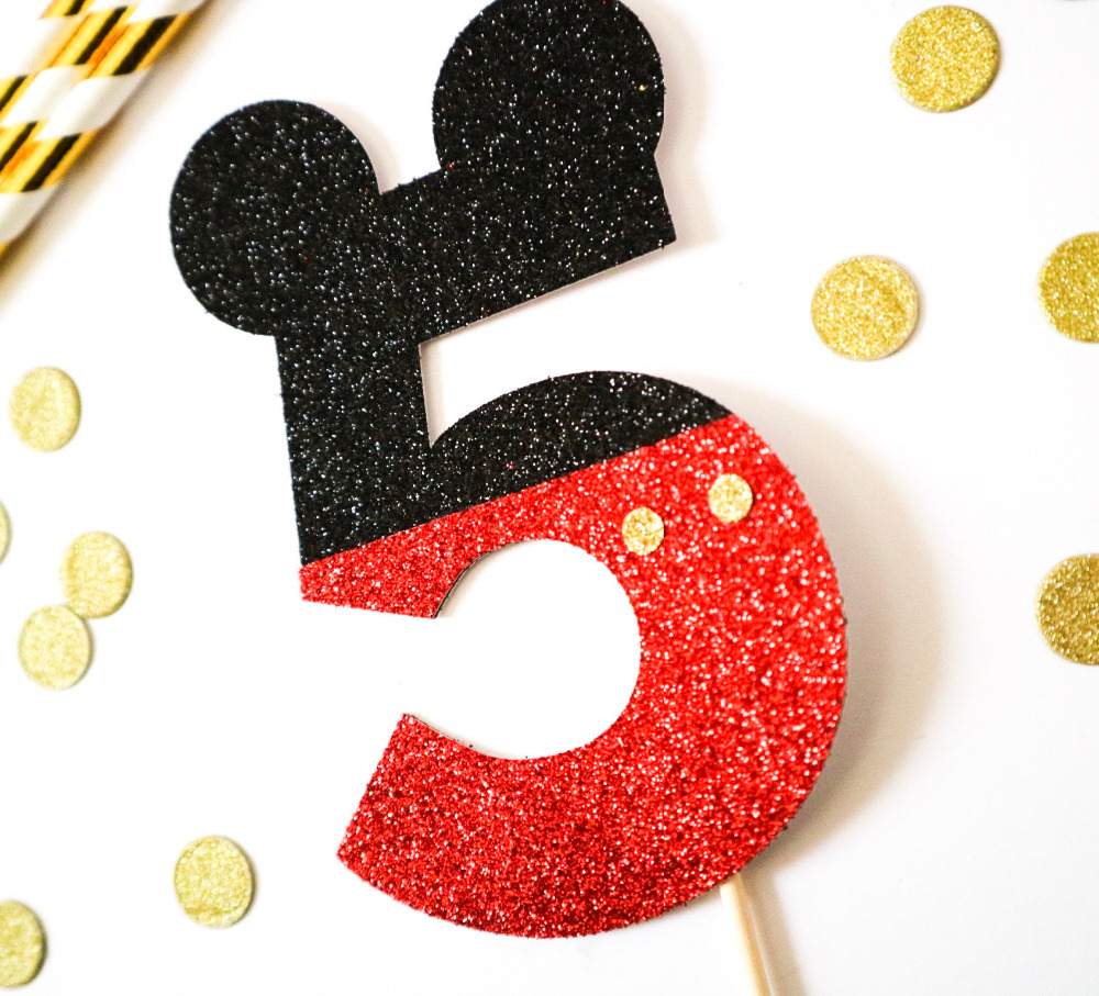 Mikey Mouse Corona cumplea/ños ni/ños regalo primero cumplea/ños adorno de fiesta infantil