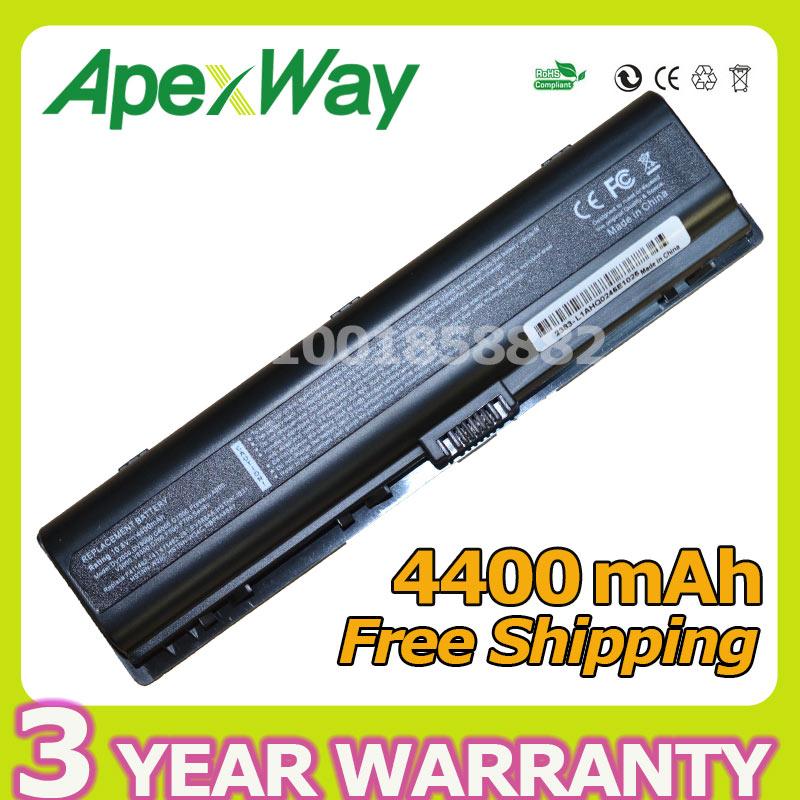 Apexway 4400mAh 11.1v Battery for HP Pavilion DV6000 DV2000 DV6700 DV6100 DV6500 DV2700 Presario C700 A900 V3000 HSTNN-IB42 hp dv9000 dv6000 dv2000 v3000