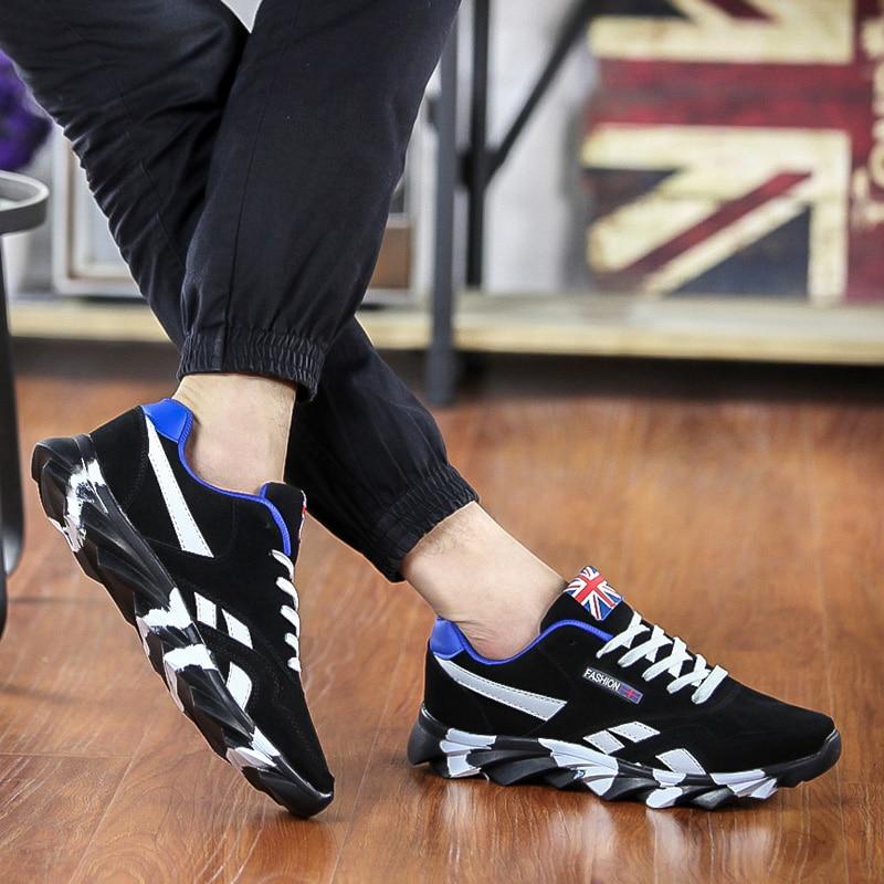Los Zapatos Calzado Antideslizante Casuales 2018 Cómodo Zapatillas Populares red black De Blue Moda Adulto Hombres Transpirables Otoño wTUqFF