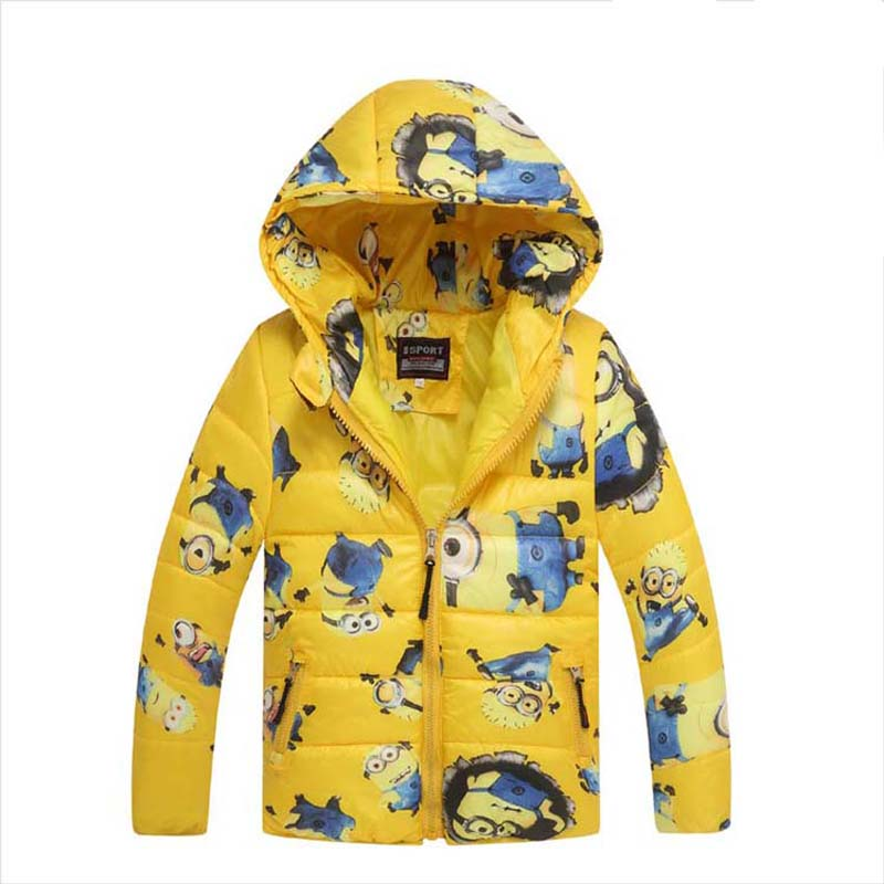 New Winter Jackets Boys Hooded Coats Cartoon Kids Down Cotton Parkas Vest 3-11Y Children's Thick Warm Outwear Outdoor SC598 casual 2016 winter jacket for boys warm jackets coats outerwears thick hooded down cotton jackets for children boy winter parkas
