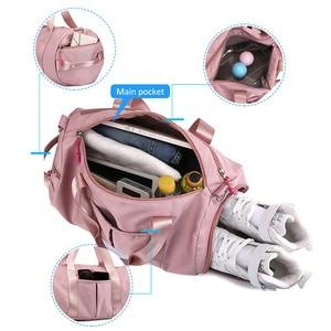 Image 3 - Suchej mokrej torba Fitness torby na siłownię dla kobiet 2019 mężczyźni mata do jogi Tas podróży szkolenia Sac De Sport Gymtas Sac De sport Sporttas nowy XA85A