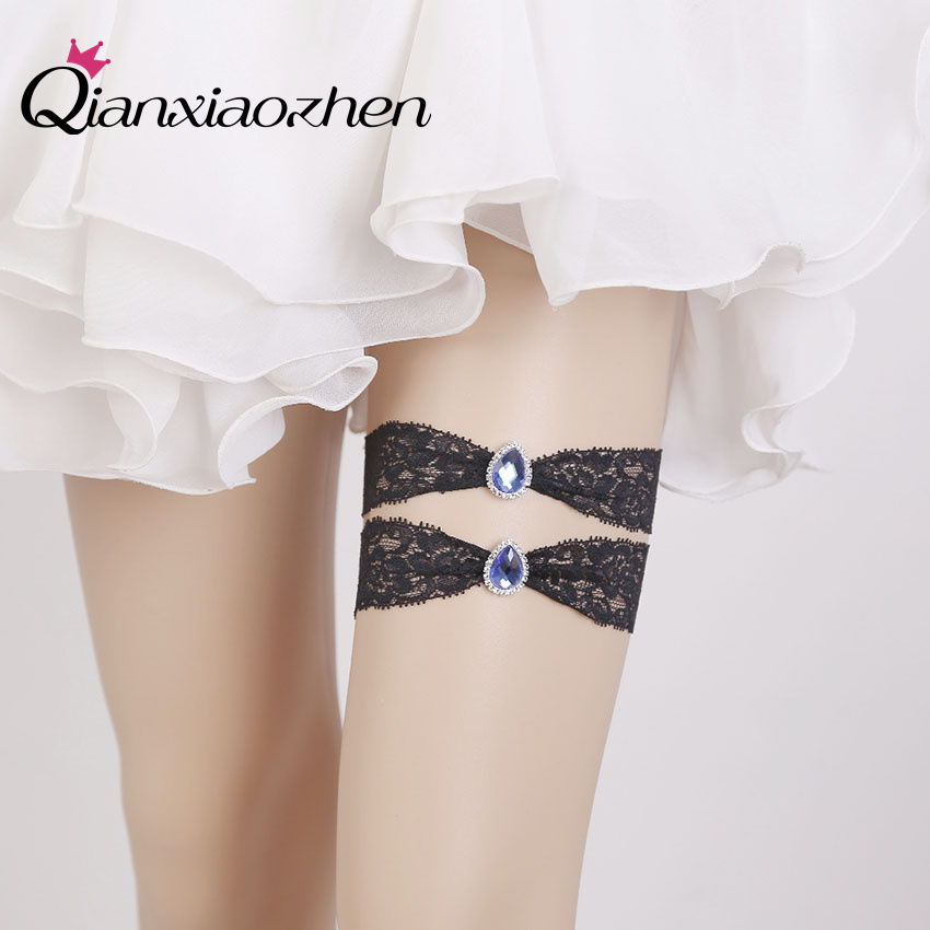 Why Two Garters For Wedding: Qianxiaozhen 2pcs/set Lace Leg Wedding Garter Bridal
