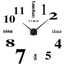 Fashion Creative DIY Sticker Simple Number Wall Clock Three-dimensional Acrylic Decoration