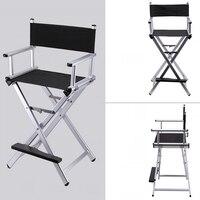 Высокая Алюминий Frame визажист директор стул складные Мебель Легкий Портативный складной директор макияж стул