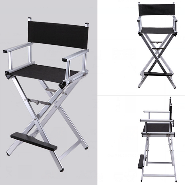 High Aluminum Frame Makeup Artist Director Chair Foldable Outdoor Furniture Lightweight Portable Folding Director Makeup Chair
