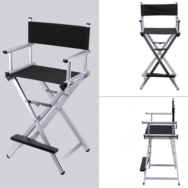 High Aluminum Frame Makeup Artist Director Chair Foldable Outdoor Furniture  Lightweight Portable Folding Director Makeup Chair