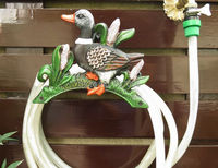 Cast Iron Wall Mounted Hose Holder Duck Hosepipe Pipe Reel Hose Hanger Rural Garden Yard Patio