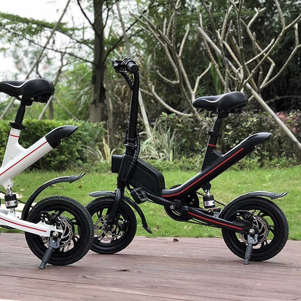 350W motor e bike pedal assisted electric bike lightweight with middle suspension