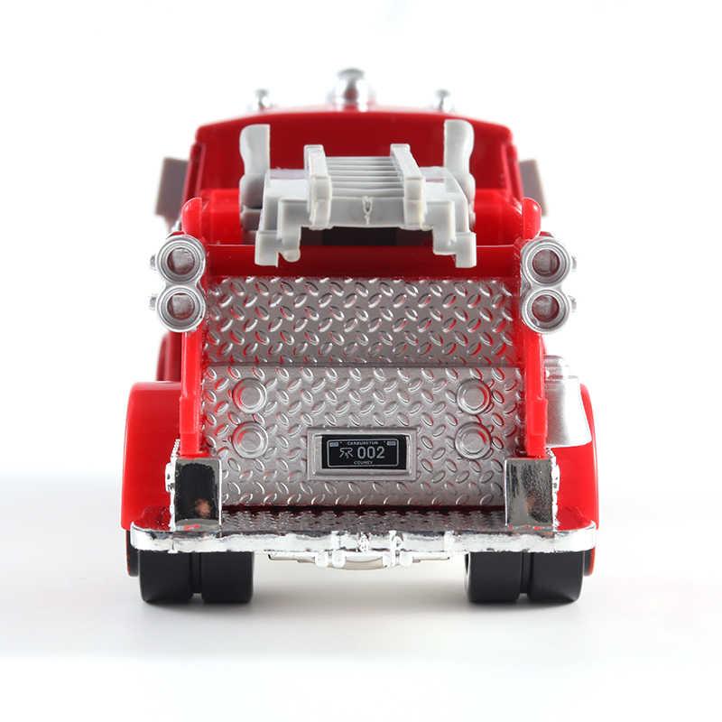 Cars Disney Pixar Cars Red Firetruck Rescue Car Model 1:55 Fire Engine Metal Diecast Car Cartoon Movie Disney Cars2 And Cars3
