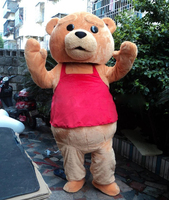 New Ted Costume Teddy Bear Mascot Costume Free Shipping